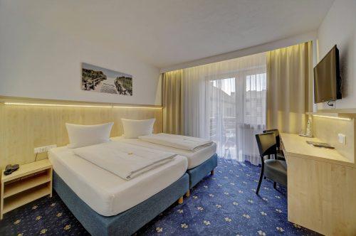 Hotel Post in Weiden Doppelzimmer Komfort mit Balkon